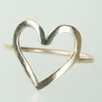 Little Heart Ring Bronze by ExCognito on Zibbet