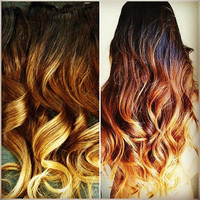 "20"" Clip-In Hair THICKER Extensions Custom Colored or Ombre"