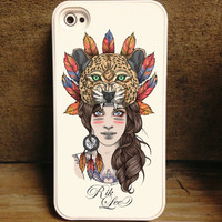 Rik Lee Store — Leopard Girl iPhone Case