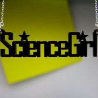 ScienceGirl necklace science chic necklace in by Weaselfactory