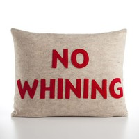 NO WHINING  oatmeal and red  14x18inch by alexandraferguson