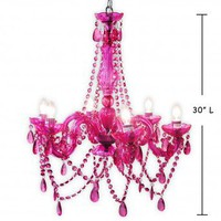 Wake Up Frankie - 6 Light Fuchsia Chandelier