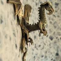 Bronze Dragon Hook Sculpture