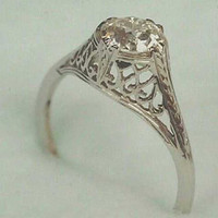 Filigree Art Nouveau to Edwardian Style 14k Gold by BayViewStudio