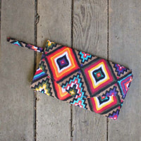 Arizona Sky Clutch - Features Flap Top Design and Wrist Strap