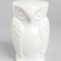 Owl Garden Side Table - Available in White and Blue