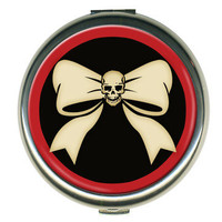 Retro-a-go-go!: Skull 'N' Bow Round Compact, at 18% off!