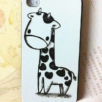Lovely Cartoon Giraffe Case for iPhone 4/4s