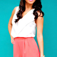 Katheryn's Scallop Shorts: Coral | Hope's