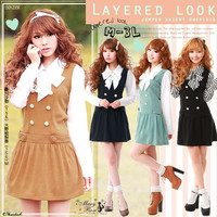 Rakuten: Princess date look!!layered look!!Japan skirt-like dress.- Shopping Japanese products from Japan