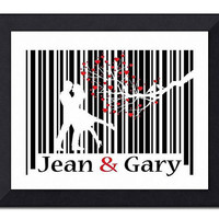 OOAK Personalized Couple Barcode Art Secret by TheWallaroo