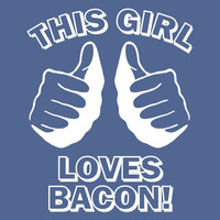 funny t shirt This GIRL LOVES BACON T Shirt Navy