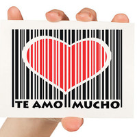 Te Amo Mucho Greeting Card I love you a lot in by TheWallaroo