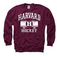 Amazon.com: Harvard Crimson Crimson Wide Stripe Hockey Crewneck Sweatshirt: Sports & Outdoors