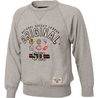 Amazon.com: Original Six Heather Grey Old Time Hockey Lansing Crewneck Sweatshirt: Sports & Outdoors