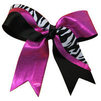 Custom Bows & More | HUGE selection of Cheerleading Hair Bows include sequin cheer bows, polka dot cheerleader bows, zebra cheer bows, animal print cheer bows, mascot name bows,competition bows, large cheer bows.  All custom made in your team colors!