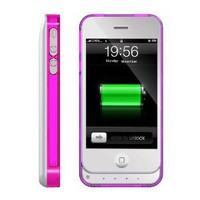 Amazon.com: ICLiC 30 pin Apple iPhone 4 4S External Extend Battery Case Cover bumper 1450mAh White: Cell Phones &amp; Accessories