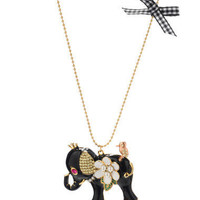 ELEPHANT LONG NECKLACE - Betsey Johnson