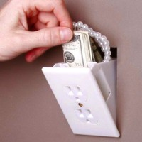 Hidden Outlet Wall Safe - $9 | The Gadget Flow