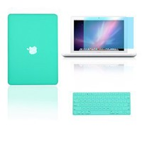 "Amazon.com: TopCase® 3 in 1 Rubberized Turquoise Blue Hard Case Cover and Keyboard Cover with LCD Screen Protector for Macbook White 13"" (A1342/Latest)+ TopCase® Mouse Pad: Computers & Accessories"