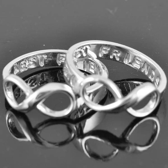 best friend ring infinity ring infinity from jubilejewel on