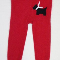 Upcycled Sweater Pants with Scotty Dog, Size 12-24 mos.