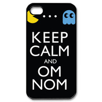 iPhone 4 Case Keep Calm Om Nom iPhone Case Hard by iShopCases