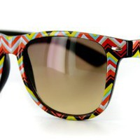 Amazon.com: Boomerang Wayfarer Sunglasses with Retro Frames and Mod Pattern for Stylish Men and Women (Orange w/ Amber Lens): Clothing