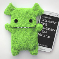 Fluffy Cellphone Case for Samsung Galaxy S3 - Applegreen with Teeth