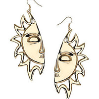 Half Sun Drop Earrings - Jewellery  - Accessories