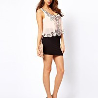 Lipsy Deco Sequin Vest Dress at asos.com