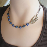 Blue Bird Necklace      tpt team by TheBrassHussy on Etsy