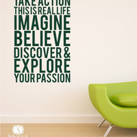 Wall Decal Quote Take Action Vinyl Subway by singlestonestudios