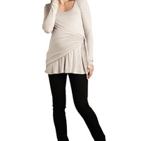 Side Tie Wrap Maternity Top by Maternal America