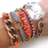 Coral Darling Stacked Bracelet Set