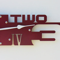 Outnumbered Clock V Wine Custom Colors Available by All15Designs
