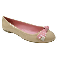 Tommy Hilfiger Charm Nude Vegan Patent Ballerina Flats