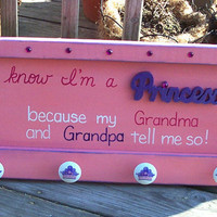 Princess Rack SIGN GIrls Grandma Grandpa by WeHaveAGreatNotion