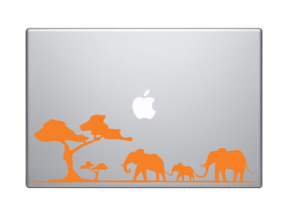 Elephant Family Laptop Decal by Puteminthewall on Etsy