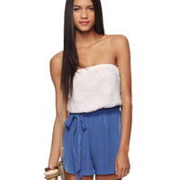Strapless Combo Romper | FOREVER21 - 2015035131
