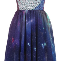 ROMWE | Beaded Bandeau Galaxy Dress(Arrival until Mar.20th), The Latest Street Fashion