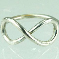 Big Infinity Symbol Ring Sterling Silver Infinity by ExCognito