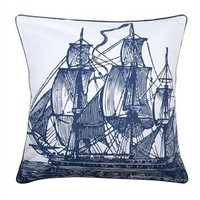 Ship 18&quot; Accent Pillow in Ink - Thomas Paul | Burke Decor