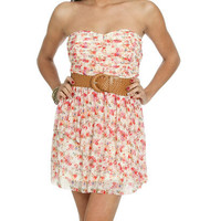 Sweetheart Floral Mesh Dress | Shop Just Arrived at Wet Seal