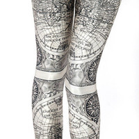 Ancient Maps Leggings | Black Milk Clothing