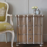 Amberley Silver Leaf 3 Drawer Bedside - Sweetpea &amp; Willow London