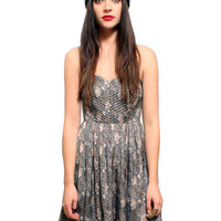 GYPSY WARRIOR - Sweetheart Floral Babydoll Dress