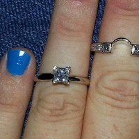 Have You Seen the Ring?: Princess Cut s\Solitare Engagement Ring & Wrap