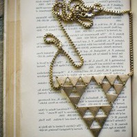 Geometric Triangle Necklace  - american threads