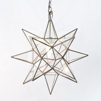 Worlds Away Clear Star Chandelier Small